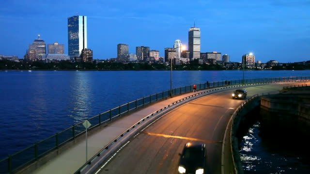 storrow drive in boston - region new england stock-videos und b-roll-filmmaterial