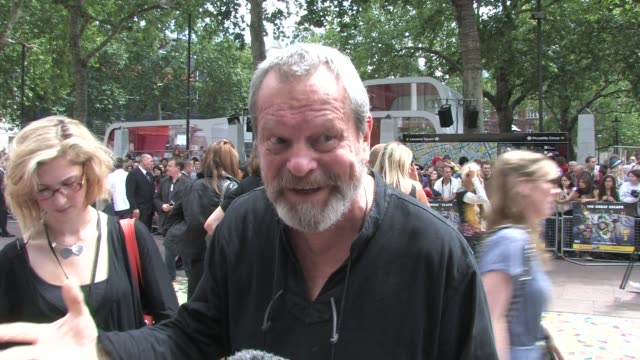 stockvideo's en b-roll-footage met story 3 uk premiere at london england - terry gilliam