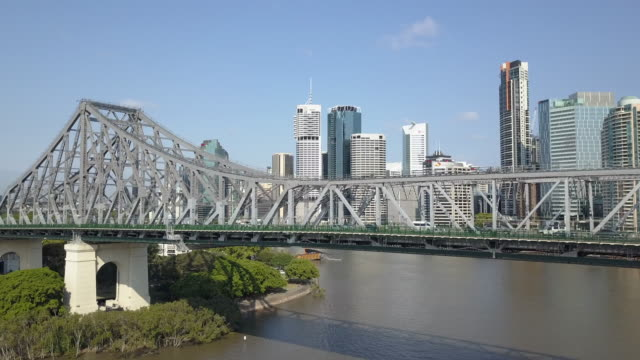 story bridge, brisbane, queensland, australia - transportation stock videos & royalty-free footage
