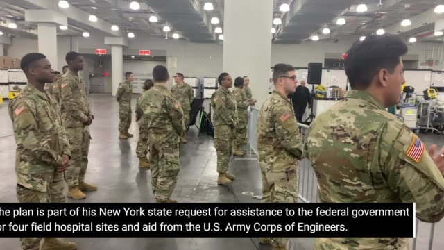 new york governor andrew cuomo tours temporary fema hospital being setup at javits convention center on march 23, 2020 in new york, new york. - governor stock videos & royalty-free footage