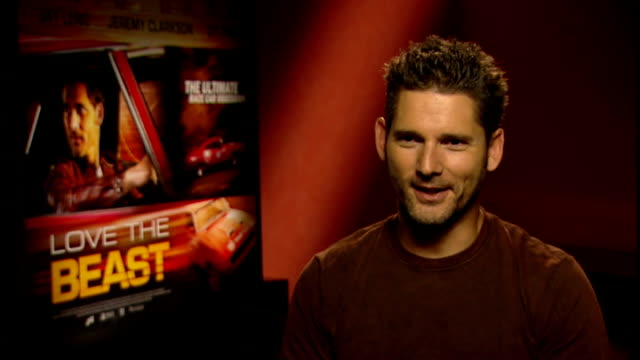 SHOWBIZ Film Eric Bana interview Bana interview SOT On whether he would rebuild his car adding in handling of an Italian super car / On retiring the...