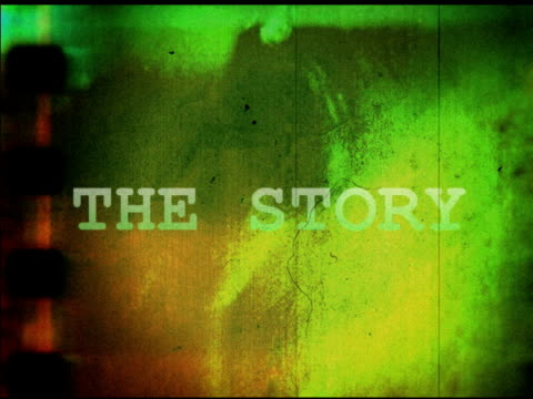 story title (old film) - storytelling stock videos and b-roll footage