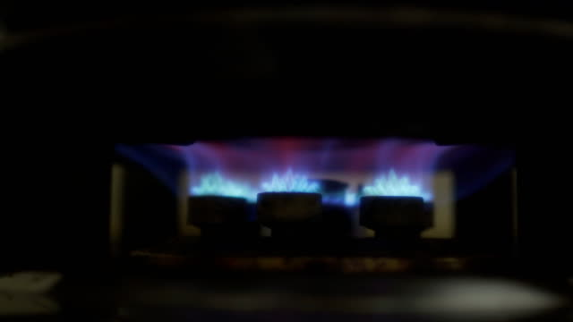 stove fire gas in kitchen - burning stock videos & royalty-free footage