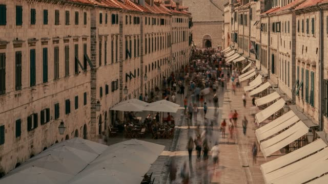 stradun in dubrovnik, croatia - croatia stock videos & royalty-free footage