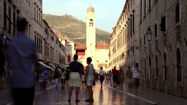 stockvideo's en b-roll-footage met stradun street and dubrovnik(day) - eastern european culture