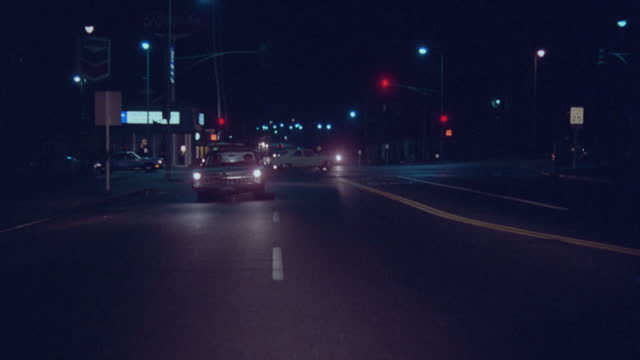 straight back western avenue, heavy trafffic - night - driving plate stock videos & royalty-free footage