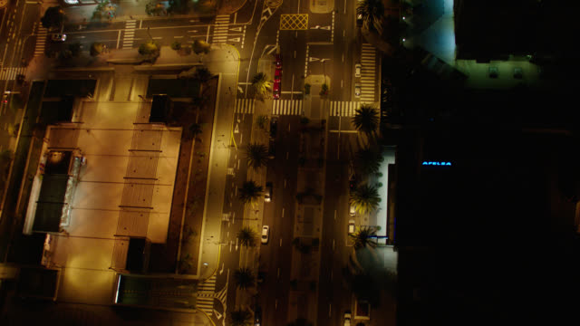 straight down aerial athens, greece - night - greece stock videos & royalty-free footage
