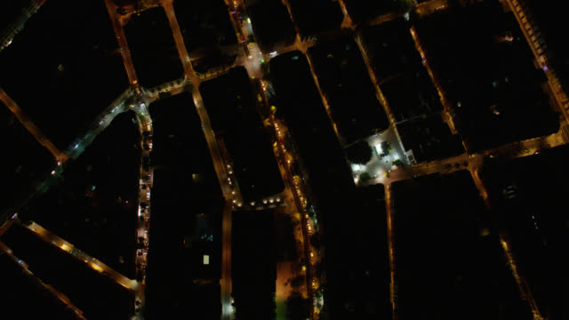straight down aerial athens, greece - night - athens greece stock videos & royalty-free footage