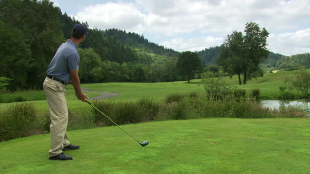 straight down the fairway - see other clips from this shoot 1271 stock videos and b-roll footage