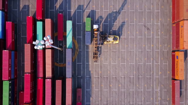 straight lines in the port of tacoma - thoroughfare stock videos and b-roll footage