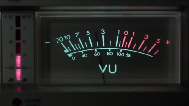 CU Straight On View of Analog VU Meter
