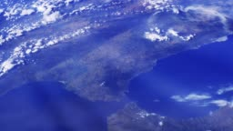Straits Of Gibraltar Seen From Space.