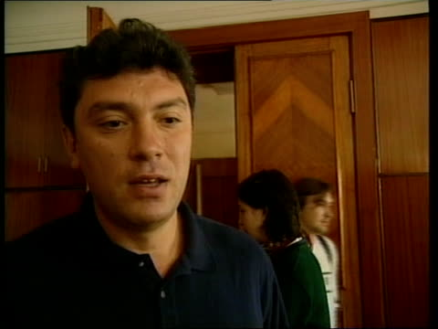 rescue attempt fails russia moscow int boris nemtsov sitting at table with others boris nemtsov interviewed sot i can't even imagine that such... - {{relatedsearchurl(carousel.phrase)}}点の映像素材/bロール