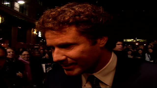 'stranger than fiction' film premiere arrivals and interviews will ferrell interview on red carpet sot on how london might be the best festival... - emma thompson stock videos and b-roll footage