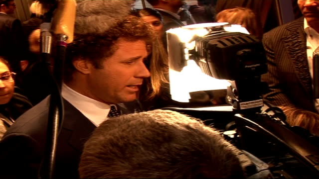 'stranger than fiction' film premiere arrivals and interviews will ferrell speaking to press / general views of emma thompson speaking to press and... - emma thompson stock videos and b-roll footage