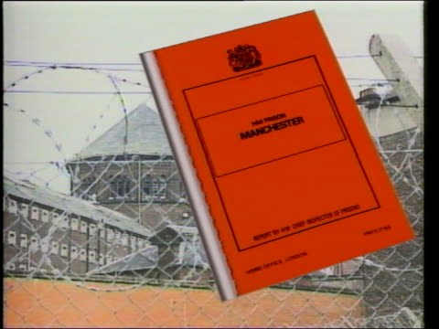 background the tumin report on strangeways - hm prison manchester stock videos & royalty-free footage