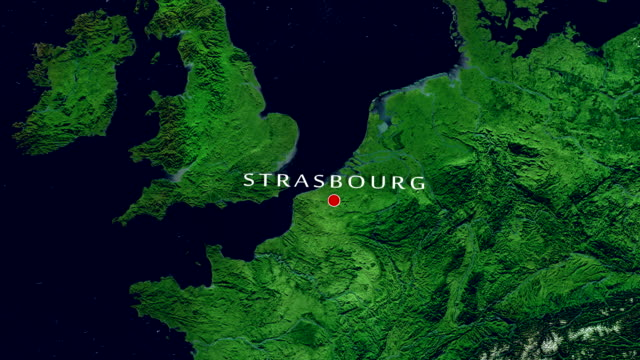 vídeos de stock e filmes b-roll de strasbourg  zoom in - estrasburgo
