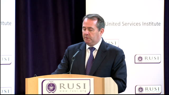 liam fox speech liam fox speech continued sot this has two aspects first our armed forces protect our citizens and territory by deterring and... - cheek to cheek stock videos & royalty-free footage