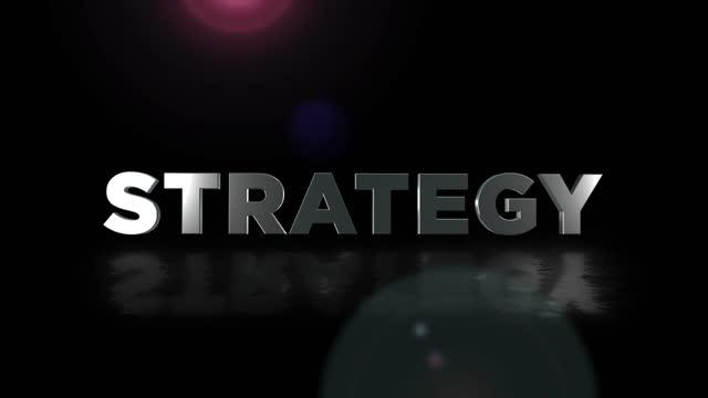 vídeos de stock, filmes e b-roll de palavra de estratégia 4k, conceito de tecnologia digital de negócios, fundo de rede - ocidentalização