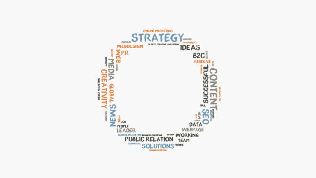 strategy word cloud - web designer stock videos & royalty-free footage