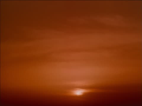 stratocumulus clouds at sunset, fading to night - stratocumulus stock videos and b-roll footage