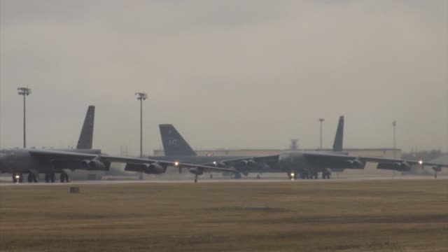 stratofortress, hd b- 52 footage from minot afb - bomber stock videos & royalty-free footage