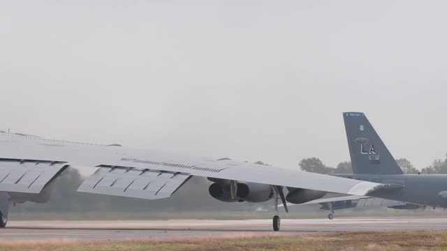 Stratofortress prepares to depart from Barksdale Air Force Base Louisiana for Minot Air Force Base North Dakota as a part of Exercise Global Thunder