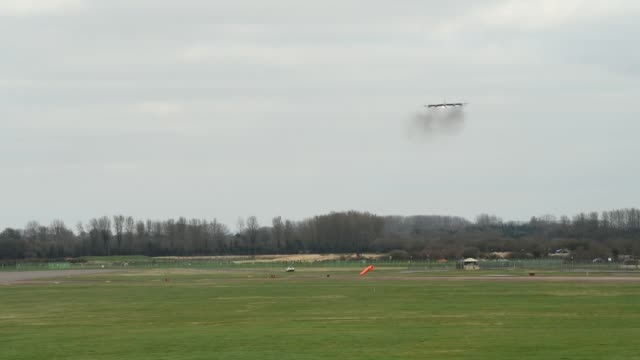 Stratofortresses take off and land at Royal Air Force Fairford United Kingdom 21 March 2019