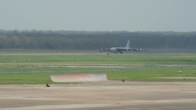 Stratofortresses take off from Barksdale Air Force Base Louisiana