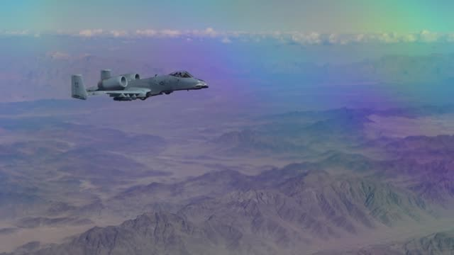 Stratotanker assigned to the 340th Air Refueling Squadron with the 451st Air Expeditionary Group refuels an A10 Thunderbolt II assigned to the 75th...