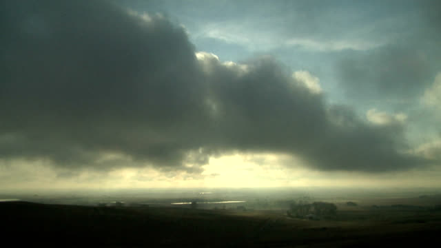 stratus breaking up at sunset, timelapse - stratus stock videos & royalty-free footage