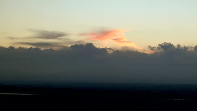 stratus clouds at sunset, timelapse - stratus stock videos & royalty-free footage