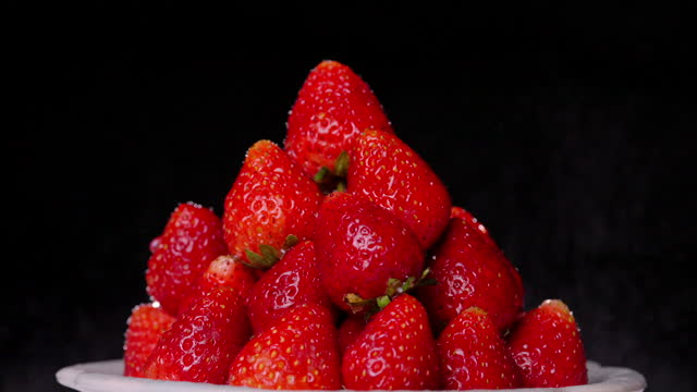 strawberries - ascorbic acid stock videos & royalty-free footage