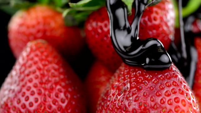 strawberry in chocolate - strawberry stock videos & royalty-free footage