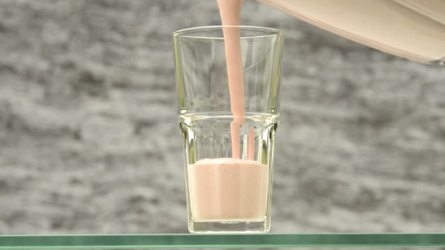 strawberry milk shake drink - smoothie stock videos & royalty-free footage