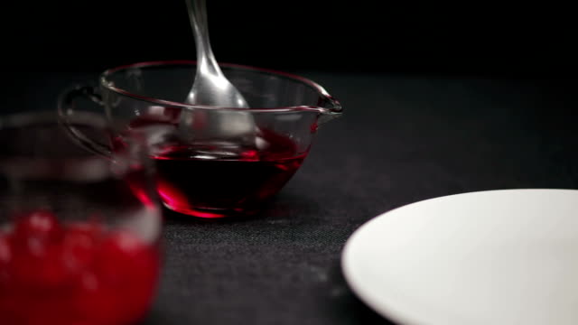 strawberry topping - gelatin stock videos & royalty-free footage