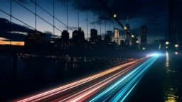 4K Streak light on the bridge