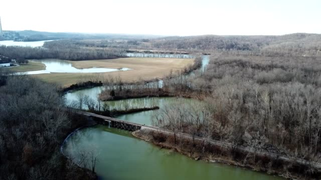 stream and railway in cumberland city tennessee - tennessee stock videos & royalty-free footage