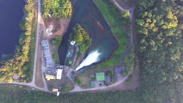 stream of water releasing from dam - releasing stock videos & royalty-free footage