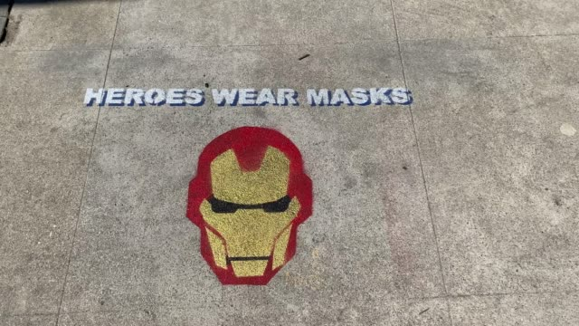 street art in studio city, california encourages everyone to wear masks during the deadly covid-19 coronavirus pandemic of 2020. at this time, over... - documentary footage stock videos & royalty-free footage