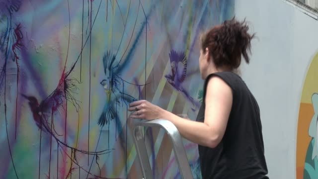 street artists from across london are showcasing their work at the whitecross street party in islington england london islington whitecross street... - tentacle stock videos & royalty-free footage