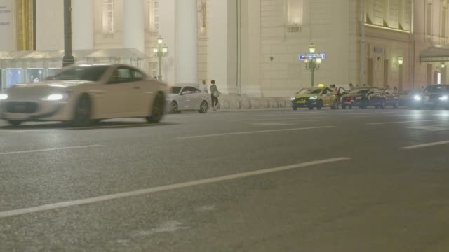 street at bolshoi theatre in moscow - moscow russia stock videos & royalty-free footage