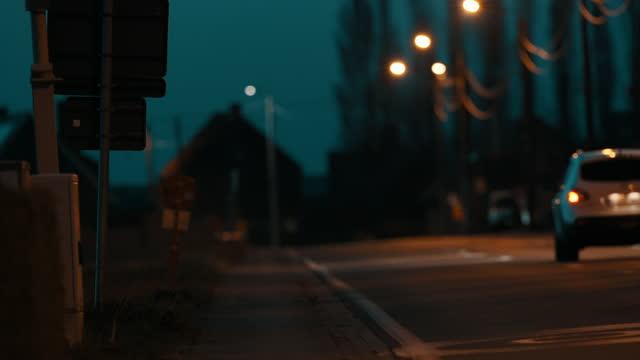 street at night - annick vanderschelden stock videos & royalty-free footage
