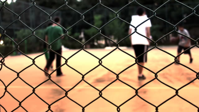 street basketball - chainlink fence stock videos and b-roll footage
