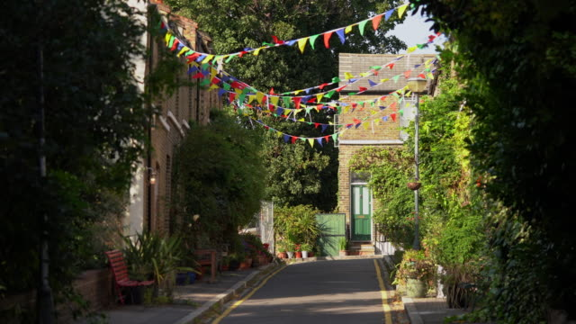 street bunting - greater london stock videos & royalty-free footage