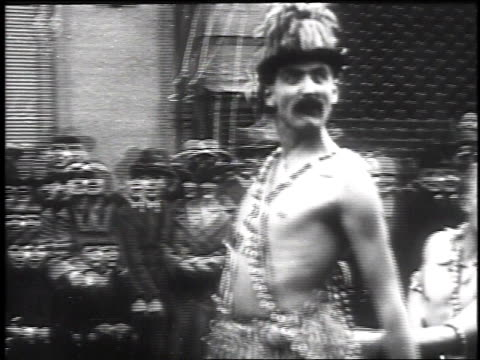 1930 montage street carnival / dusseldorf, germany - fasching stock-videos und b-roll-filmmaterial