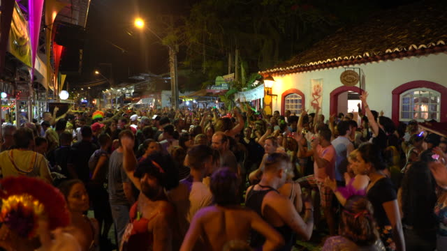 street carnival, florianopolis, brazil - street party stock videos and b-roll footage