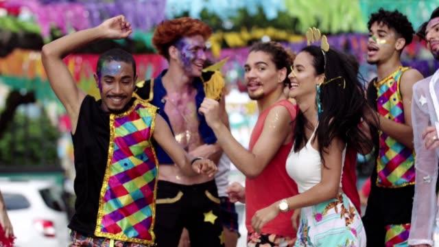 street carnival in recife, pernambuco, brazil. - tradition stock videos & royalty-free footage