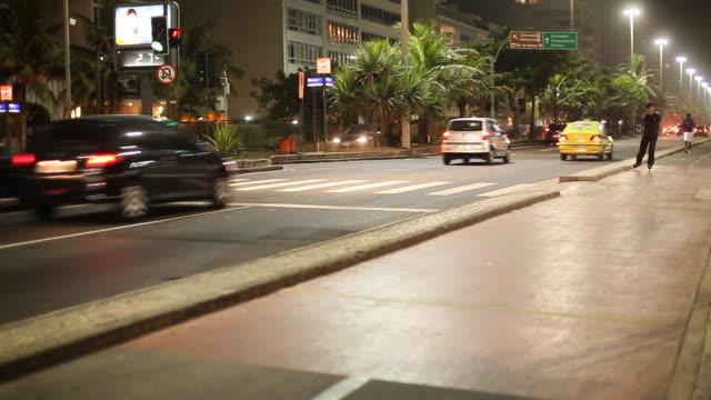street, cars, night, inline skater - urban road stock videos & royalty-free footage