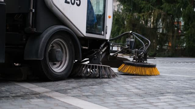 street cleaning machine - rubbish stock videos & royalty-free footage